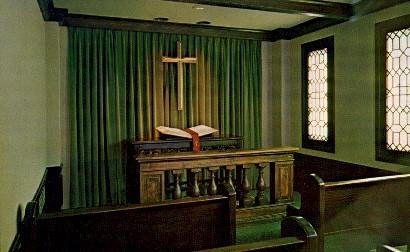 Meditation Chapel, Baker University - Baldwin City, Kansas KS Postcard