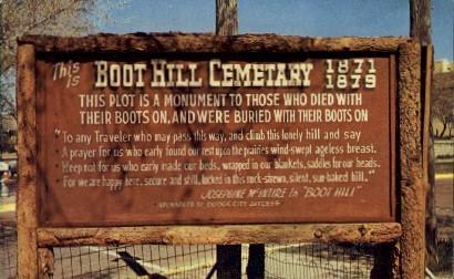 Cemetary, Boot Hill - Dodge City, Kansas KS Postcard