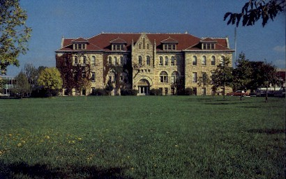 Admin. Bldg, Ottawa University - Kansas KS Postcard
