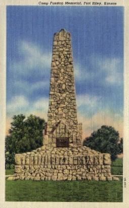 Camp Funston Memorial - Fort Riley, Kansas KS Postcard