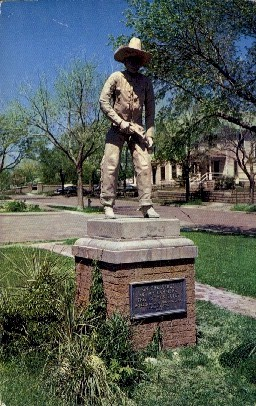 Famed Cowboy Statue - Dodge City, Kansas KS Postcard
