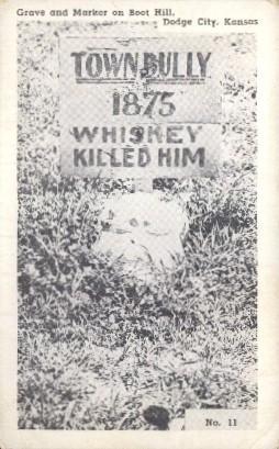 Grave & Marker, Boot Hill - Dodge City, Kansas KS Postcard
