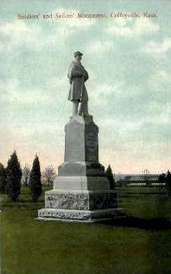 Soldiers & Sailors Memorial - Coffeyville, Kansas KS Postcard