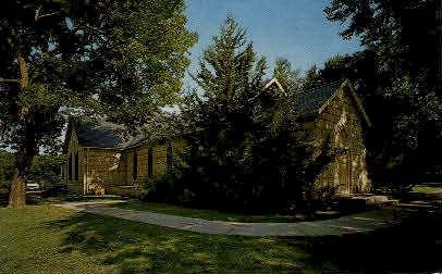 Saint Marys Chapel - Fort Riley, Kansas KS Postcard