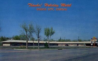 Holiday Motel - Dodge City, Kansas KS Postcard