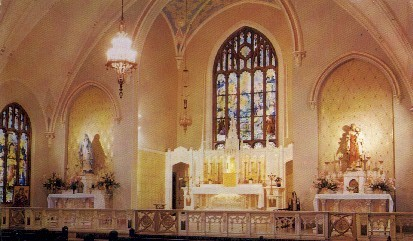Immaculate Conception Chapel - Salina, Kansas KS Postcard