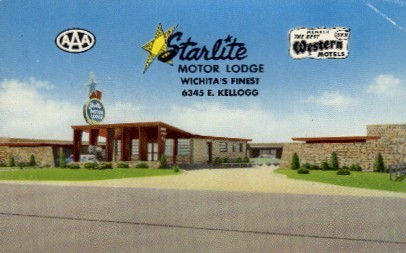 Starlite Motor Lodge - Wichita, Kansas KS Postcard
