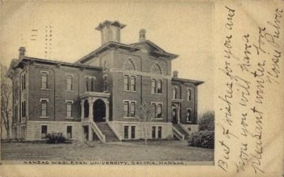 Kansas Wesleyan University - Salina Postcard