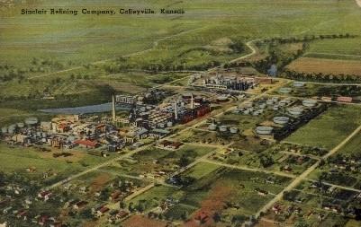 Sinclair Refining Company - Coffeyville, Kansas KS Postcard