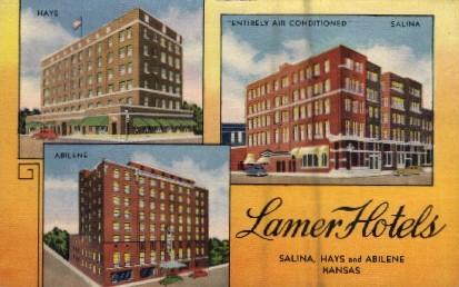 Lamer Hotels - Misc, Kansas KS Postcard