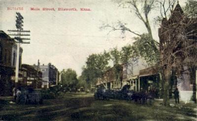 Main Street - Ellsworth, Kansas KS Postcard