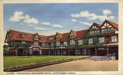The Bistonte, Fred Harvey Hotel - Hutchinson, Kansas KS Postcard