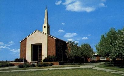 Morris Hill Chapel - Fort Riley, Kansas KS Postcard