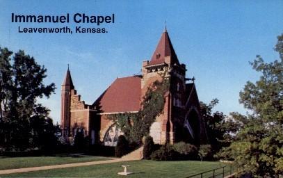 Immanuel Chapel - Leavenworth, Kansas KS Postcard