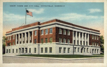 Court House & City Hall - Coffeyville, Kansas KS Postcard