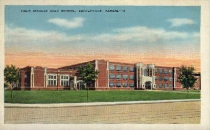 Field Kindley High School - Coffeyville, Kansas KS Postcard