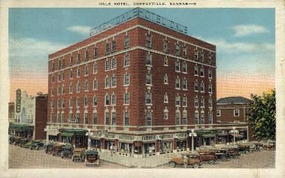 Dale Hotel - Coffeyville, Kansas KS Postcard