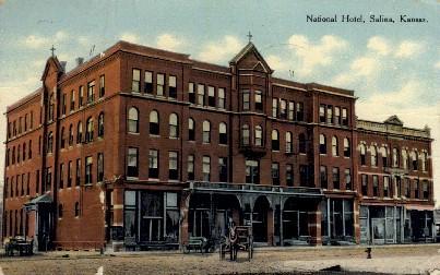 National Hotel - Salina, Kansas KS Postcard