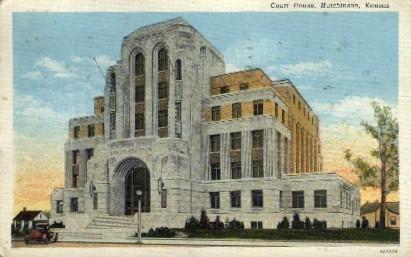 Court House - Hutchinson, Kansas KS Postcard