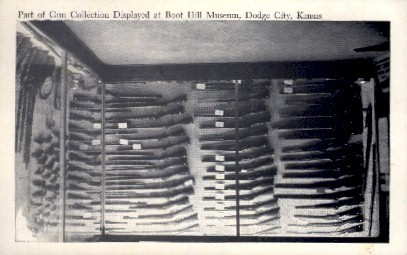 Gun Display, Boot Hill - Dodge City, Kansas KS Postcard