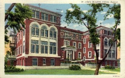 St. Johns Hospital - Salina, Kansas KS Postcard