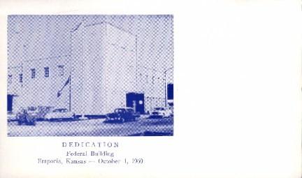 Non- Postcard Backing Federal Building - Emporia, Kansas KS