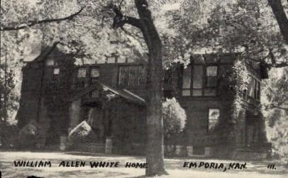 William Allen White Home - Emporia, Kansas KS Postcard