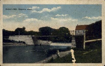 Sodens Mell - Emporia, Kansas KS Postcard