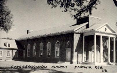 Congregational Church - Emporia, Kansas KS Postcard