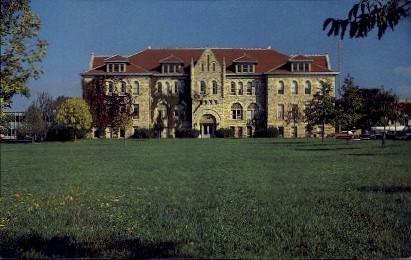 Admin. Bldg., Ottawa University - Kansas KS Postcard