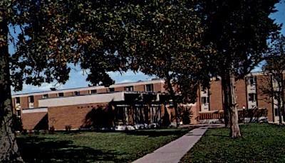Brown Hall, Ottawa University - Kansas KS Postcard