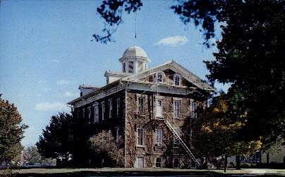Tauy Jones Hall, Ottawa University - Kansas KS Postcard