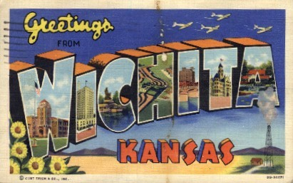 Greetings From  - Wichita, Kansas KS Postcard
