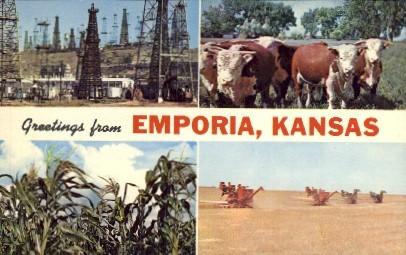 Greetings From - Emporia, Kansas KS Postcard