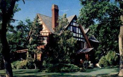 Allen White Home - Emporia, Kansas KS Postcard