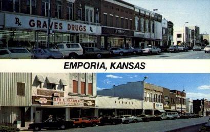 Emporia, Kansas, KS Postcard