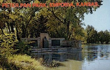 Peter Pan Park - Emporia, Kansas KS Postcard
