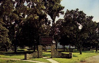 Plaza Square Parade Grounds - Fort Scott, Kansas KS Postcard