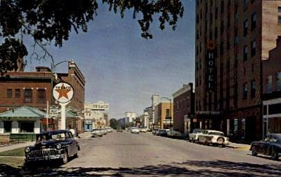 3rd Street - Abilene, Kansas KS Postcard