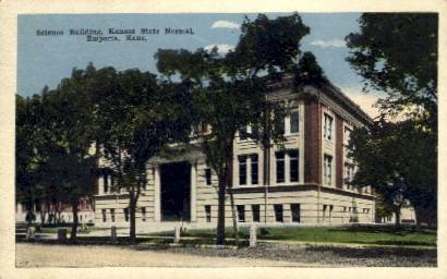 Science Bldg., Kansas State Normal - Emporia Postcard