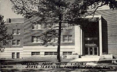 William Allen White Library - Emporia, Kansas KS Postcard