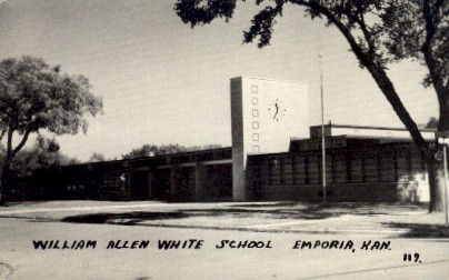 William Allen White School - Emporia, Kansas KS Postcard