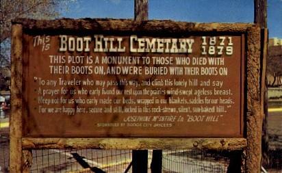 Cemetery, Boot Hill - Dodge City, Kansas KS Postcard