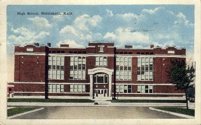 High School - Hutchinson, Kansas KS Postcard
