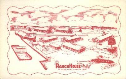 Ranch House Motel - Emporia, Kansas KS Postcard