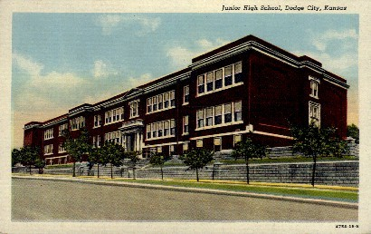Junior High School - Dodge City, Kansas KS Postcard