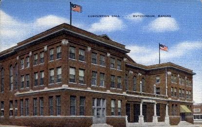 Convention Hall - Hutchinson, Kansas KS Postcard