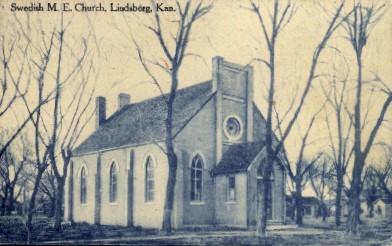 Swedish M.E. Church - Lindsborg, Kansas KS Postcard