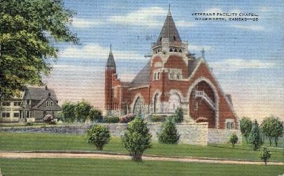 Veterans Facility Chapel - Wadsworth, Kansas KS Postcard