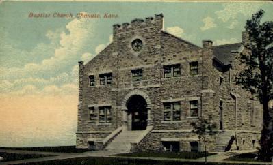 Baptist Church - Chanute, Kansas KS Postcard